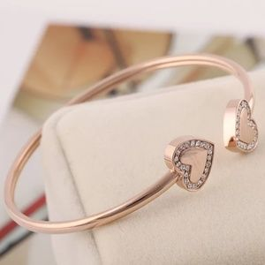 Michael Kors Rose Gold Crystal Heart Bracelet
